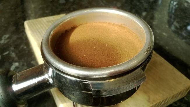 How your coffee should looked after the Tamping process