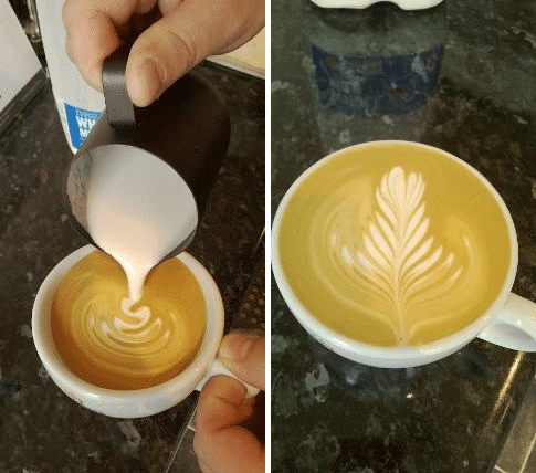An even pour with a good depth of foam